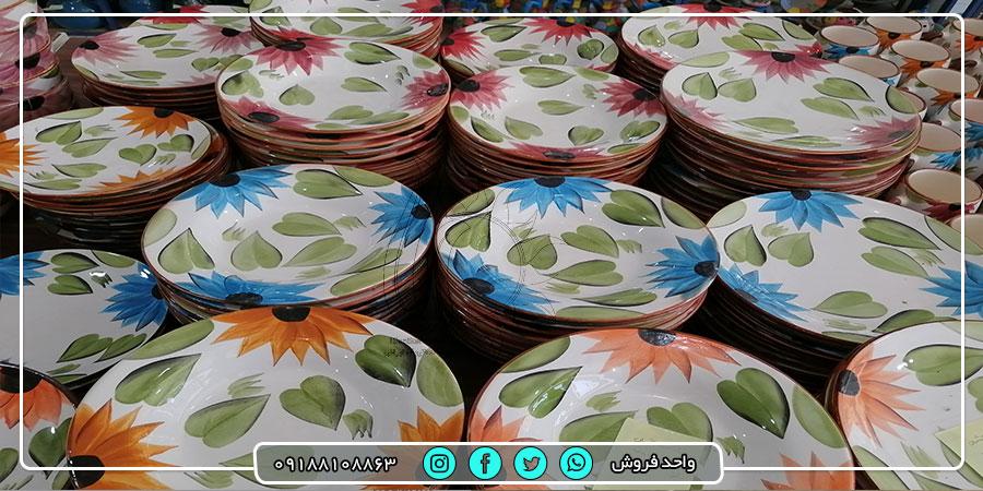 تولیدکننده ظروف سرامیکی غذاخوری رنگی