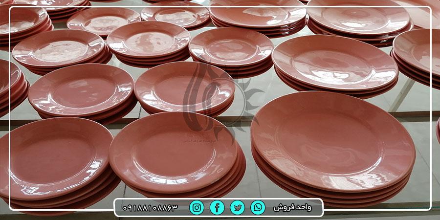 فروش عمده ظرف های سرامیکی رنگی با هنر دست