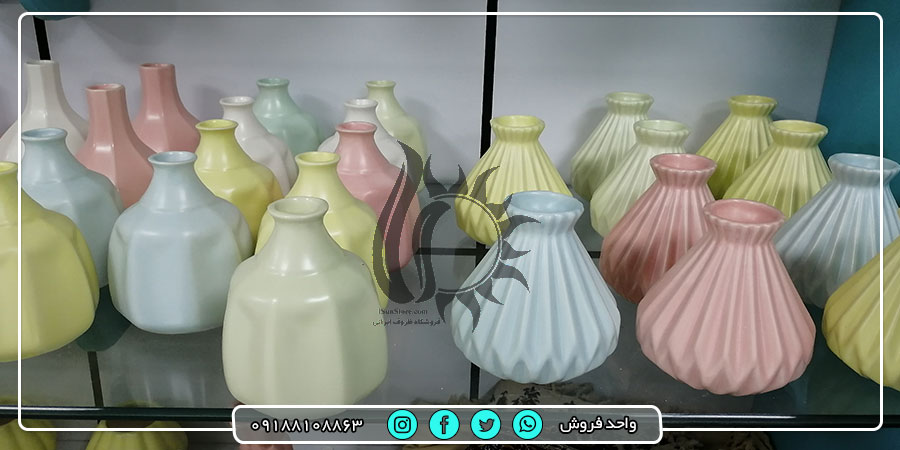 فروش عمده گلدان های تزئینی با قیمت تولیدی   آیسان