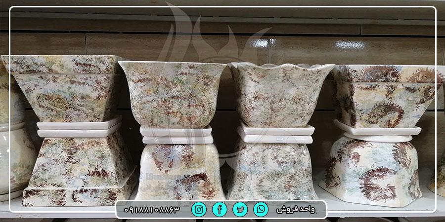 فروش عمده گلدان های بزرگ سفال و سرامیک با قیمت ارزان