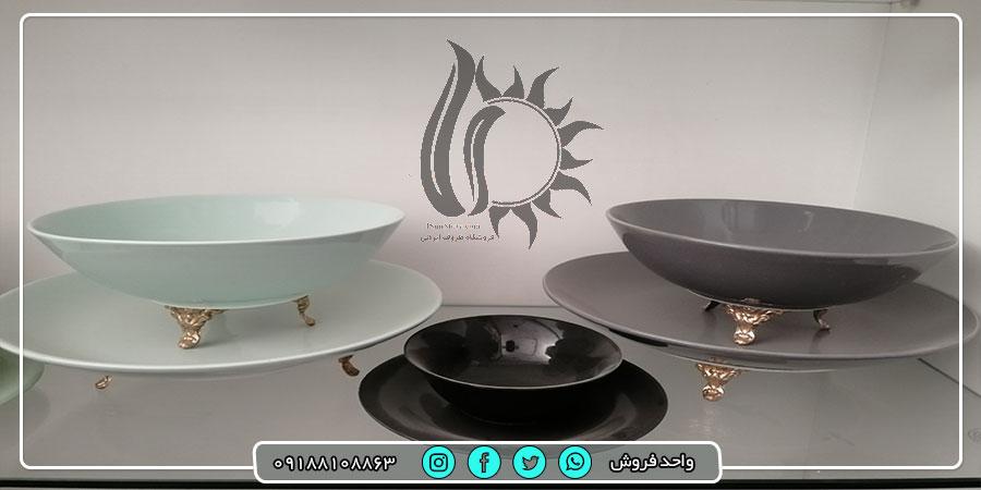 فروش عمده انواع جدیدترین ظروف سرامیکی ساده و رنگی از تولیدی