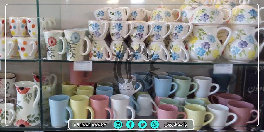 فروش عمده انواع مختلف پارچ و لیوان از تولید