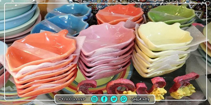 خرید عمده انواع ظروف آشپزخانه سرامیکی رنگی