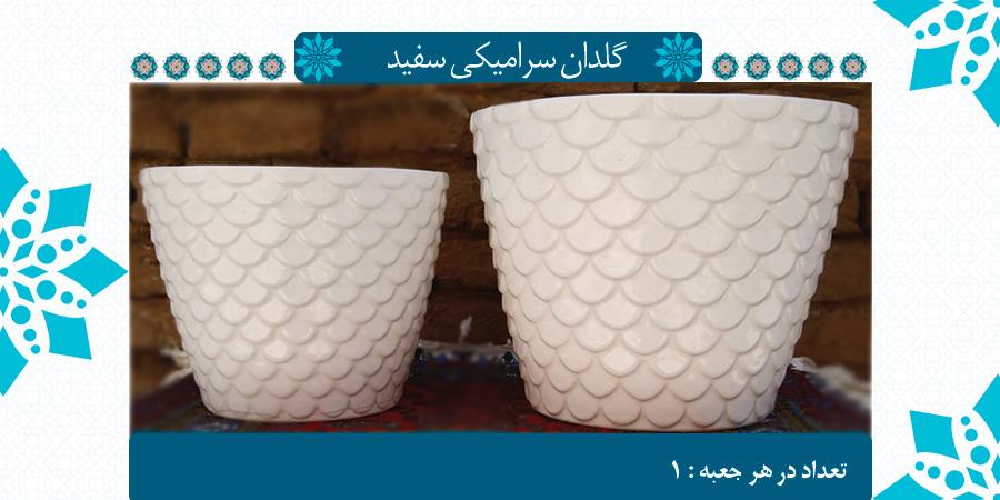 عرضه مستقیم گلدان سرامیکی سفید از تولیدی