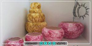 فروش عمده گلدان سرامیکی کروی رنگی