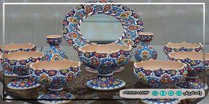 هفت سین میناکاری با ظروف زیبا