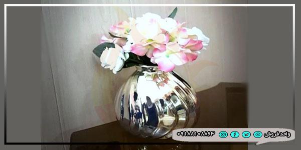 خرید عمده گلدان کروم